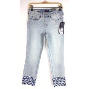 NWT $129 NYDJ Sheri Ankle raw ankle jeans desert